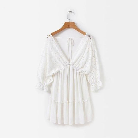 Image of White Delight Beach Dress dress BQ Emporium white L