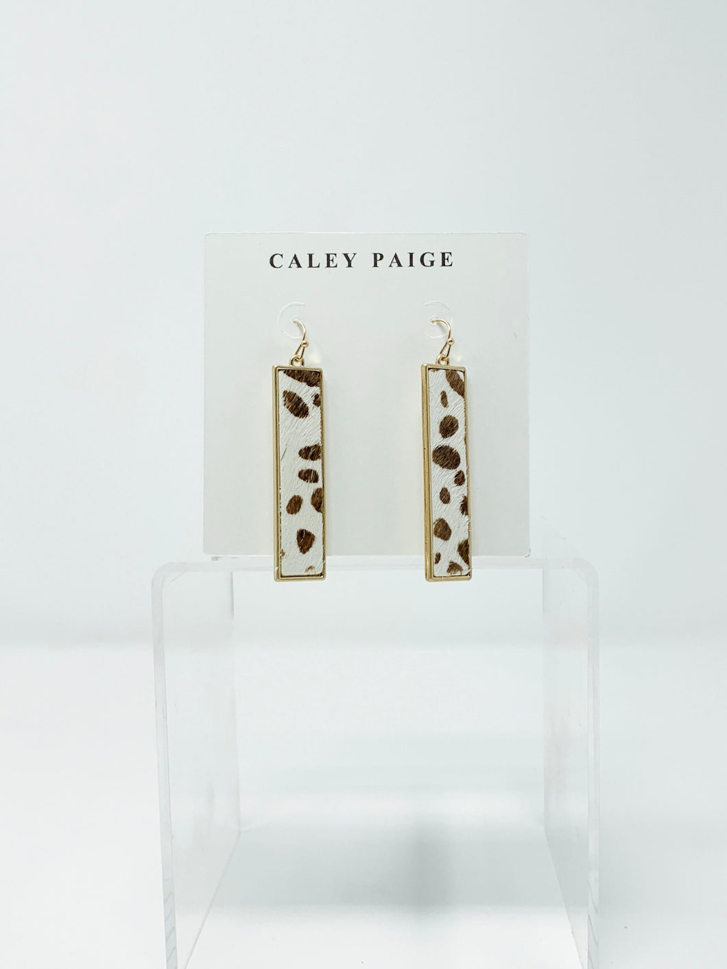 Cowhide/Leopard Bar Earrings