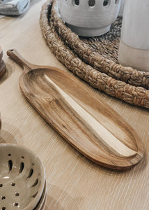"19"" Acacia Wood Serving Tray"