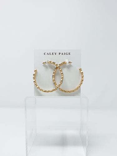 White Opal Beaded Circle Hoops