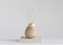Load image into Gallery viewer, Bamboo Vase w/ Seagrass Weave
