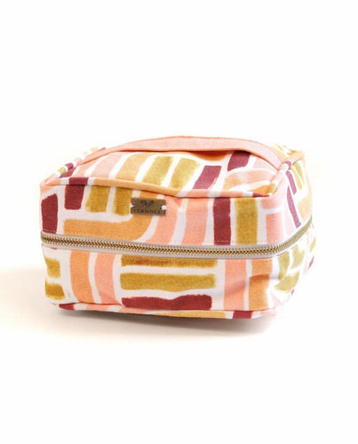 SUNSET STRIPE COSMETIC POUCH