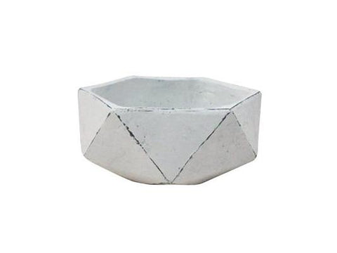 GardenStar Pot Geo Cement Bowl 23x10cm 22731