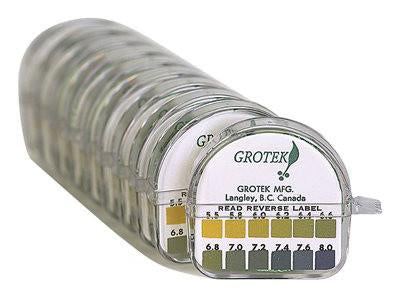 Grotek Water pH Testing Paper Strips Kit Narrow Range 17058
