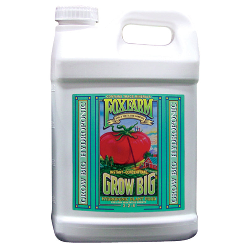 FoxFarm Nutrient / Additive Grow Big Hydroponic 2.5 Gallon Bottle 26955