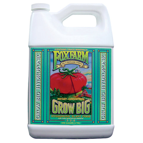 FoxFarm Nutrient / Additive Grow Big Hydroponic 1 Gallon Bottle 26954