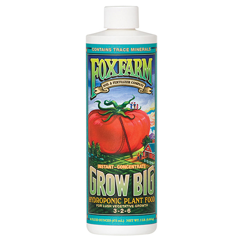 FoxFarm Nutrient / Additive Grow Big Hydroponic 1 Pint Bottle 26952