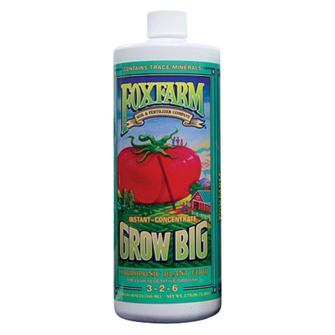 FoxFarm Nutrient / Additive Grow Big Hydroponic 1 Quart Bottle 26953