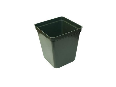"Kordlock Plastic Plant Pot - Square Hard 3.5x3.5x3.75"" 1010"