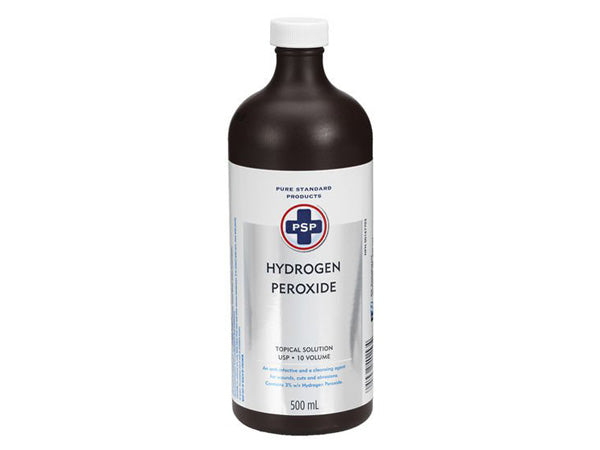 PSP Hydrogen Peroxide (H2O2) Cleaning / Disinfectant Liquid 10 Volume 3% 500ml Bottle