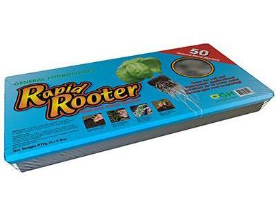 Rapid Rooter by General Hydroponics Rooting Plugs Tray of 50 Cubes