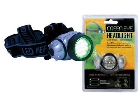 National Garden Wholesale Green LED Headlamp
