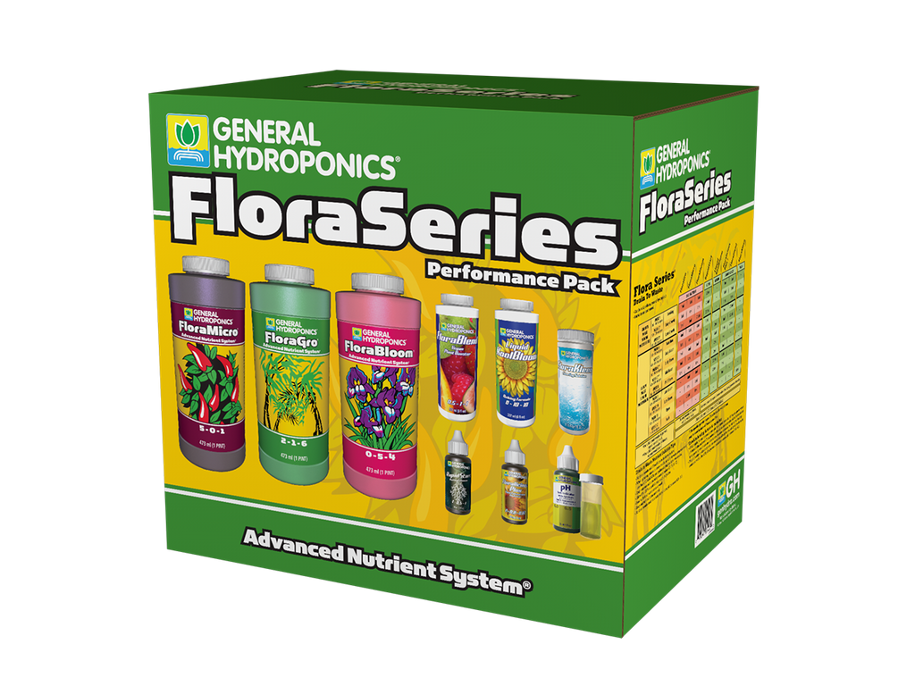 General Hydroponics Nutrient / Additive - Flora Series Performance Pack Starter Kit