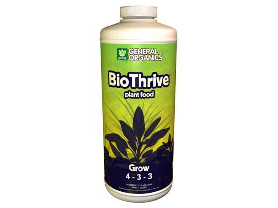 General Hydroponics Nutrient / Additive - General Organics BioThrive Grow 946ml