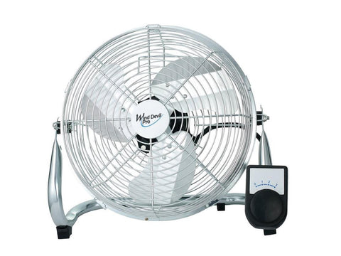 "Air Mover - Wind Devil 9"" 3-Speed Floor Fan for Air Circulation - Great for Tents!"