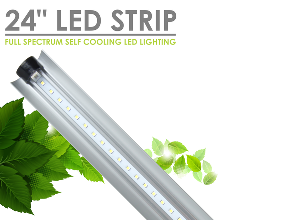 "SunBlaster LED Strip Plant Grow Lighting - 24"" 24Watt 6400K (Vegetative / Grow)"