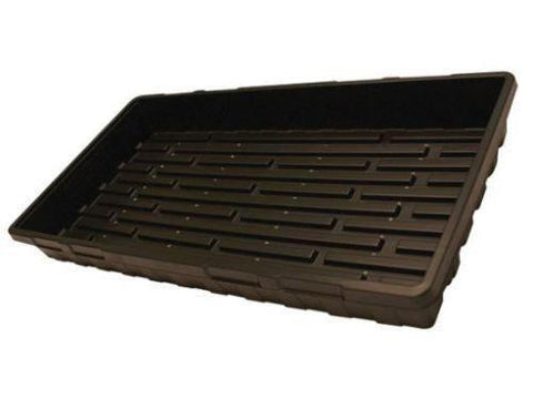 "Mondi Propagation Tray Black Plastic 10x20"" w/ Holes"