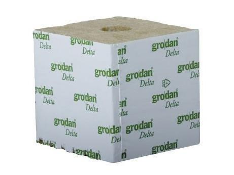"Grodan Rockwool Cubes 6"" Square Hugo w/ Hole 48/case"