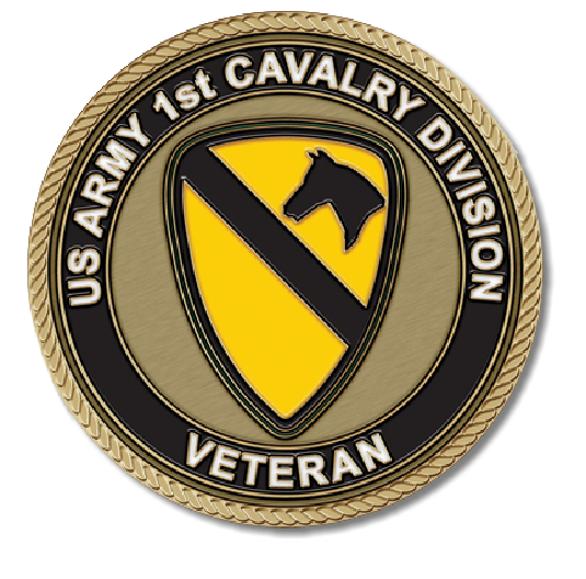 US Army 1st Cavalry Division Medallion