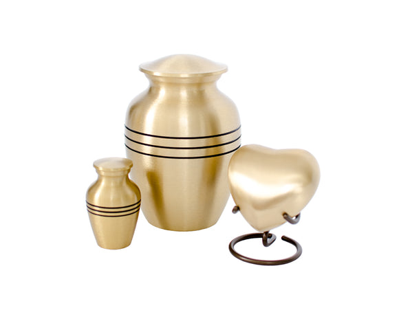 Brush Bronze Urn Complete Set