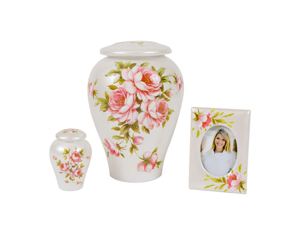 Rose Bouquet Urn Complete Set