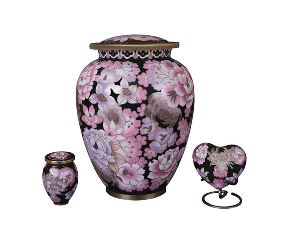 Floral Blush Elite Urn Complete Set