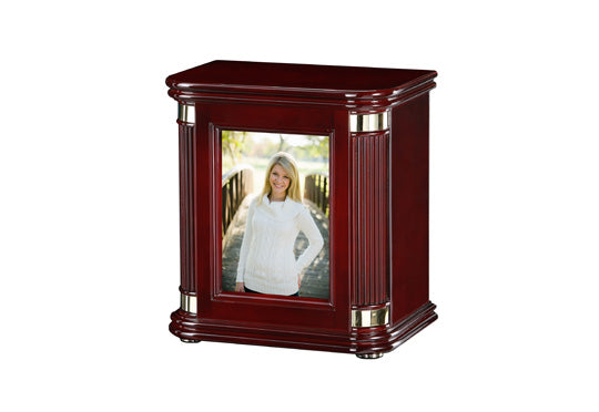 Rosewood Picture Frame Chest Urn