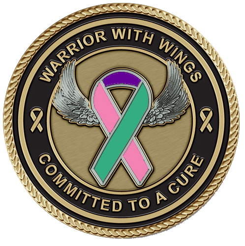 Tri-Color Cancer Medallion