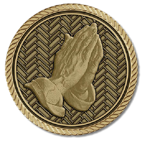 Praying Hands Medallion - (Right)
