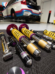 KW Suspension Coil Over 2-Way Clubsport for BMW F Series M3/M4 with Stormtrooper_f80 on the lift