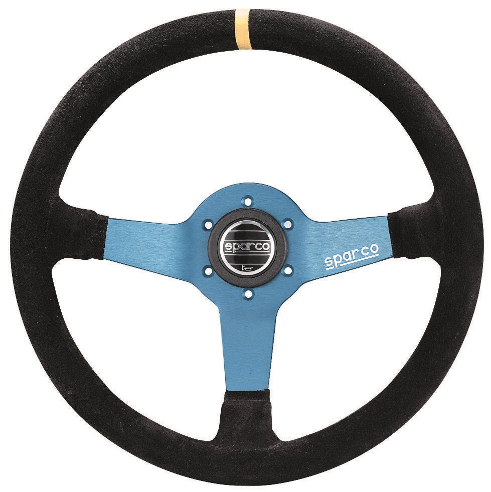 Sparco Steering Wheel Monza L550 Suede Blue/Black