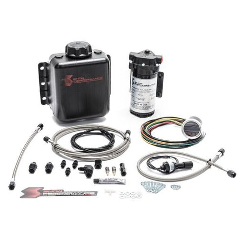 Snow Performance Stage 2.5 Boost Cooler Forced Induction Progressive Water-Methanol Injection Kit (Stainless Steel Braided Line, 4AN Fittings)