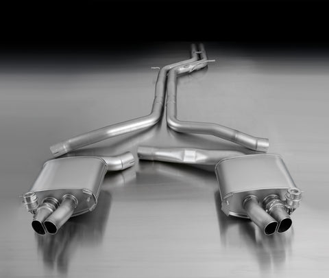 REMUS Performance valved Cat Back Racing Exhaust Audi RS5 8T non resonated