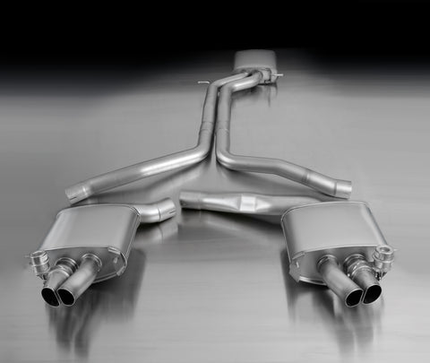 REMUS Performance valved Cat Back Racing Exhaust Audi RS5 8T resonated