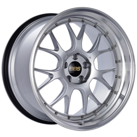 BBS LM-R 330 20x11 5x114.3 ET20 CB66 Diamond Silver Center Diamond Cut Lip Wheel