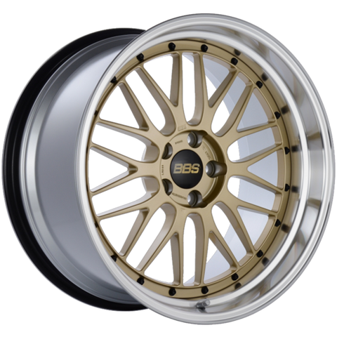 BBS LM 239 20x10.5 5x114.3 ET20 CB66 Gold Center Diamond Cut Lip Wheel