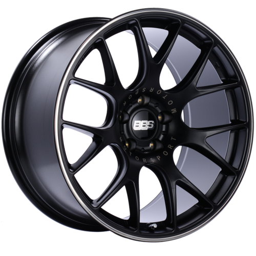 BBS CH-R 101 20x10.5 5x120 ET24 Satin Black Polished Rim Protector Wheel -82mm PFS/Clip Required