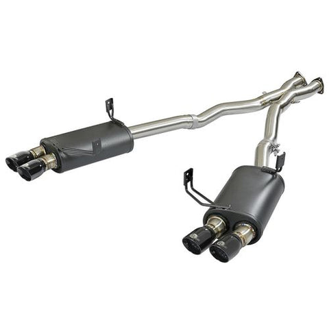 aFe MACH Force-Xp 2-1/2in 304 SS Cat-Back Exhaust w/ Black Tips 05-08 BMW Z4 M Coupe (E86) L6 3.2L