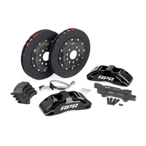 APR Brakes - 350x34mm 2 Piece 6 Piston Kit - Front - Black - MK7 GTI