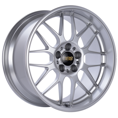 BBS RG-R 773H 18x10 5x120 ET25 Diamond Silver Wheel -82mm PFS/Clip Required