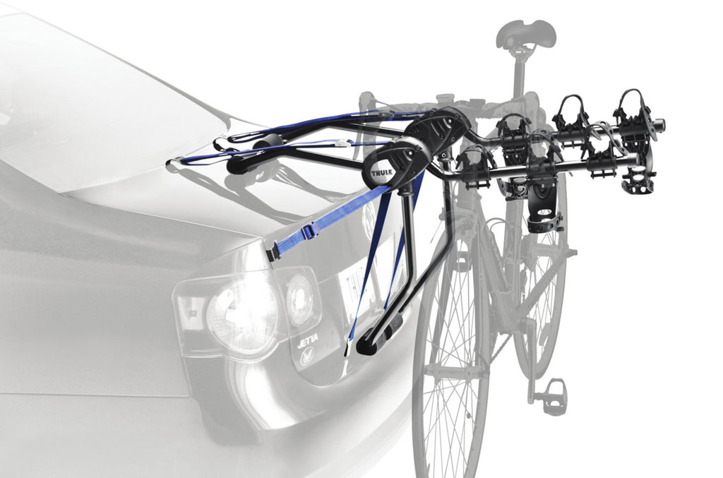 Thule Passage 3 - Hanging Strap-Style Trunk Bike Rack (Up to 3 Bikes) - Black