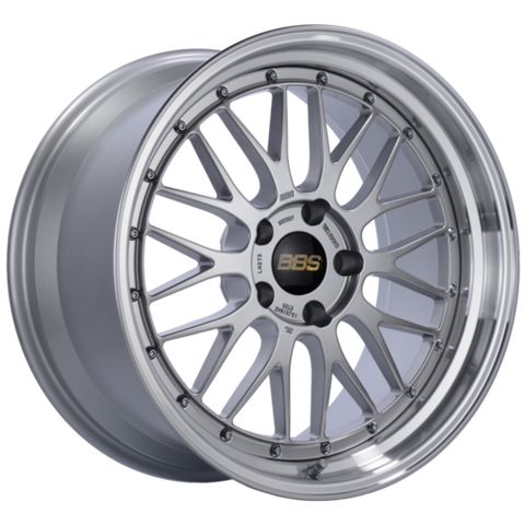 BBS LM 259 19x9.5 5x120 ET48 Diamond Silver Center Diamond Cut Lip Wheel -82mm PFS/Clip Required