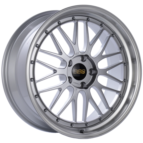 BBS LM 225 20x9 5x120 ET15 Diamond Silver Center Diamond Cut Lip Wheel -82mm PFS/Clip Required
