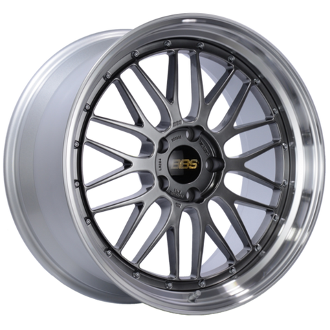 BBS LM 284 20x10 5x120 ET33 Diamond Black Center Diamond Cut Lip Wheel -82mm PFS/Clip Required