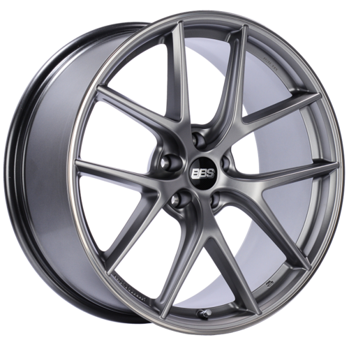 BBS CI-R 0201 20x9 5x112 ET25 Platinum Silver Polished Rim Protector Wheel -82mm PFS/Clip Required