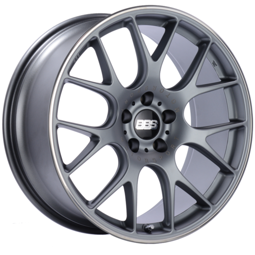 BBS CH-R 100 20x9 5x120 ET24 Satin Titanium Polished Rim Protector Wheel -82mm PFS/Clip Required