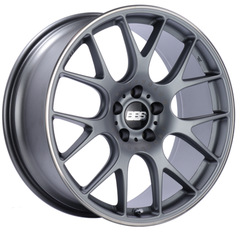 BBS CH-R 102 20x9 5x112 ET25 Satin Titanium Polished Rim Protector Wheel -82mm PFS/Clip Required