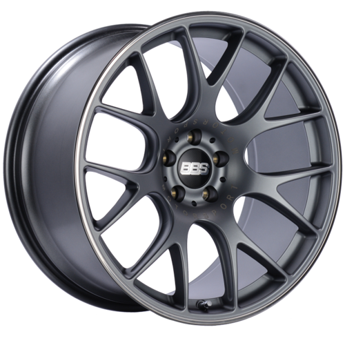 BBS CH-R 103 20x10.5 5x112 ET25 Satin Titanium Polished Rim Protector Wheel -82mm PFS/Clip Required
