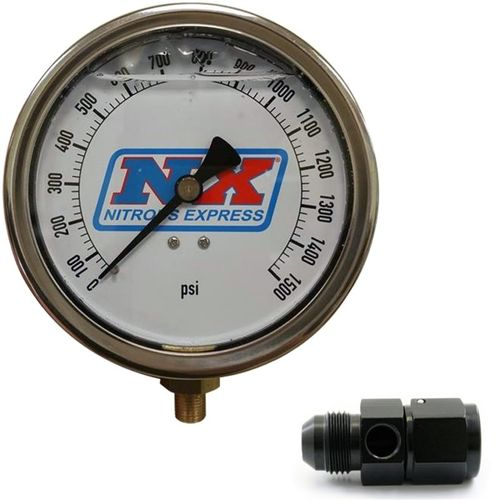 Nitrous Express Nitrous Pressure Gauge 4in-High Accuracy 8AN