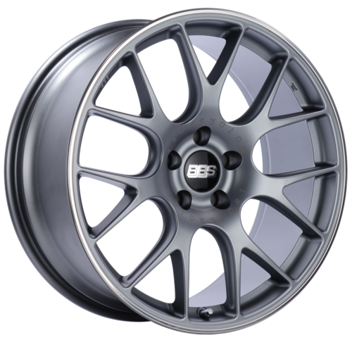 BBS CH-R 113 20x9 5x120 ET29 Satin Titanium Polished Rim Protector Wheel -82mm PFS/Clip Required